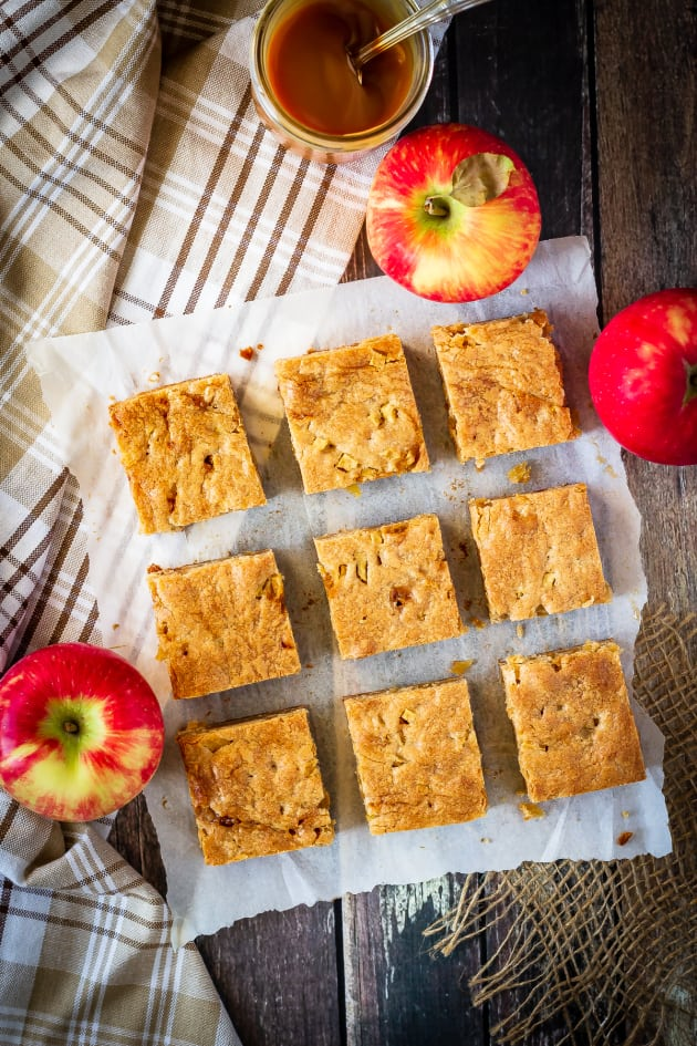 Caramel Apple Blondies Picture