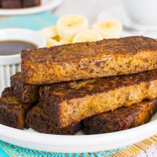Banana bread french toast sticks photo