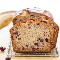 Gluten Free Cranberry Banana Bread Recipe