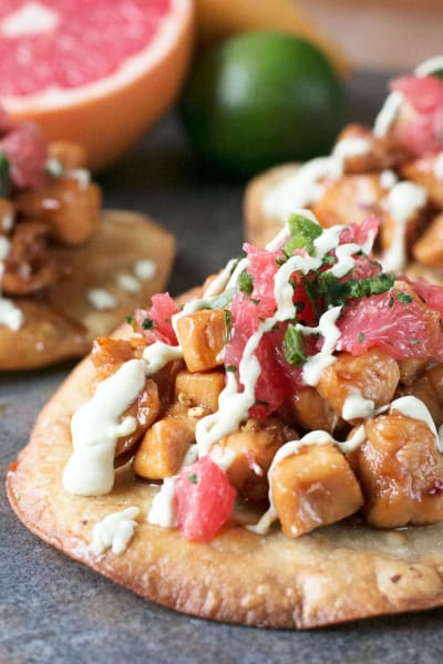 Spicy Chicken Tostadas with Avocado Sauce Pic