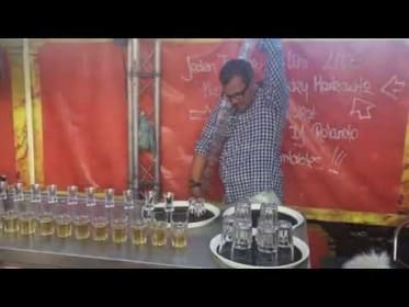 Bartender Pours 17 Jägerbombs at Once, Shatters World Record