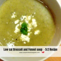 Low cal Broccoli and Fennel Soup
