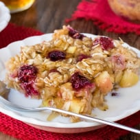 Raspberry Apple Baked Oatmeal Recipe