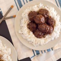 Baked Gluten Free Teriyaki Meatballs Recipe