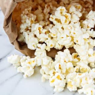 Homemade microwave popcorn photo