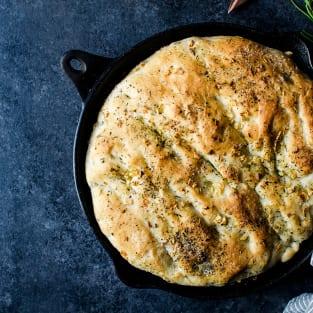 Herb skillet bread photo