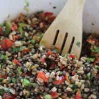 Fall Farro Lentil Salad