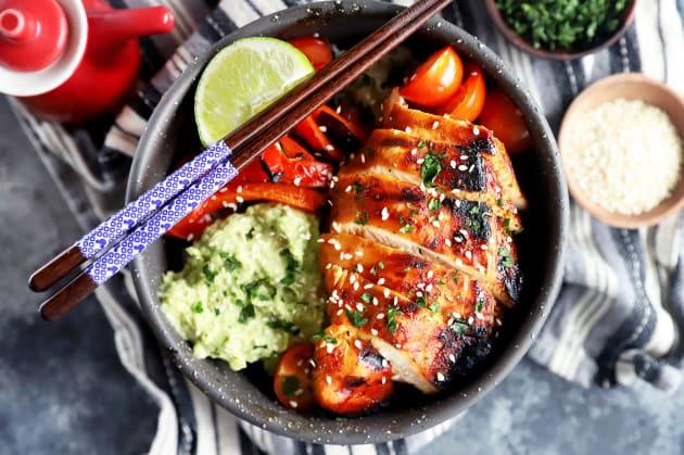Korean Spicy Chicken Rice Bowls Photo