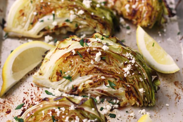 Roasted Cabbage Wedges Photo
