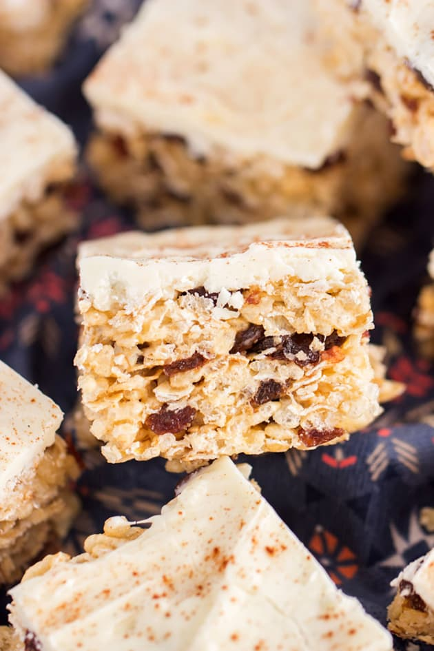 Oatmeal Raisin Rice Krispie Treats Image