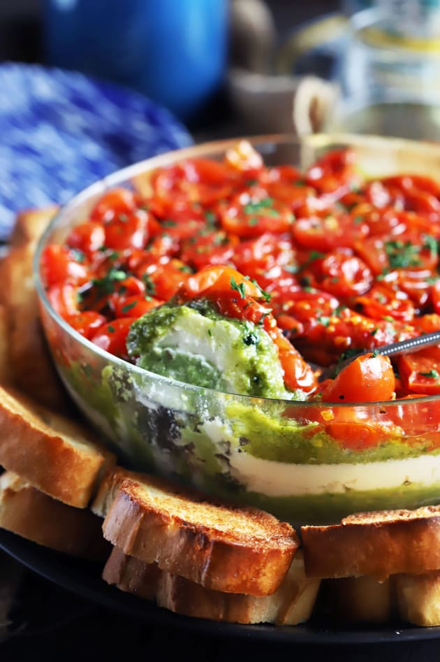 File 1 - Avocado Ricotta Tomato Pesto Layer Dip