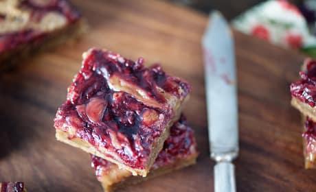 Brown Butter Raspberry Pie Blondies Image