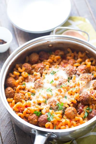Skillet Meatball Lasagna Image