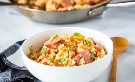 Easy Sausage and Rice Skillet Pic