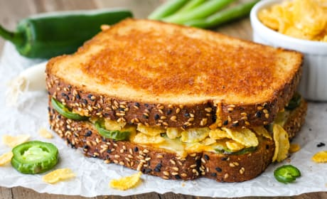 Toaster Oven Jalapeño Popper Grilled Cheese Photo