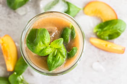 Basil Peach Agua Fresca