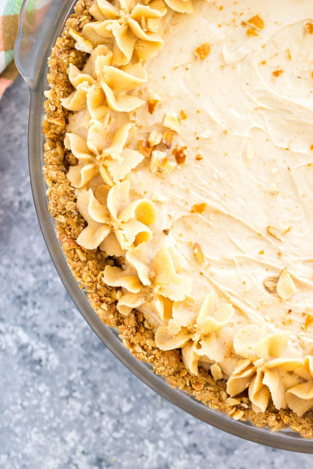 Peanut Butter Pie with Pretzel Crust Image