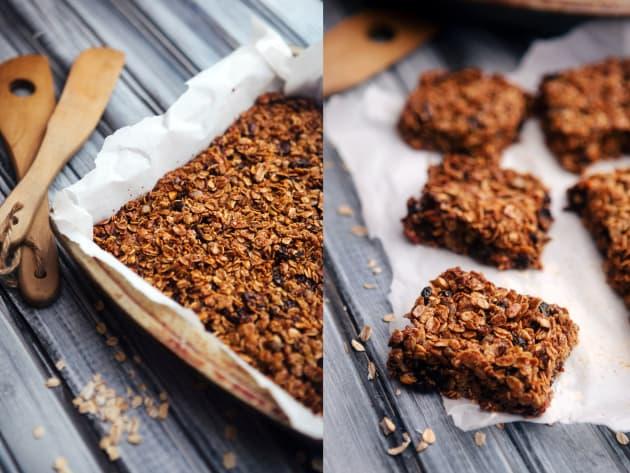 Healthy Homemade Granola Bars Photo