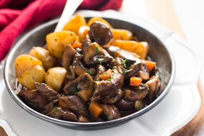 Skillet Beef Tips and Gravy