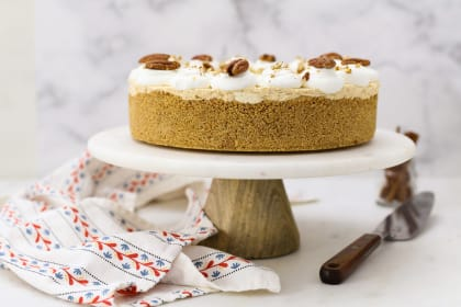No Bake Pumpkin Mousse Cake with White Chocolate Recipe