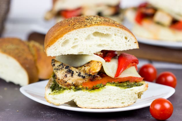 Grilled Chicken Pesto Sandwich Photo