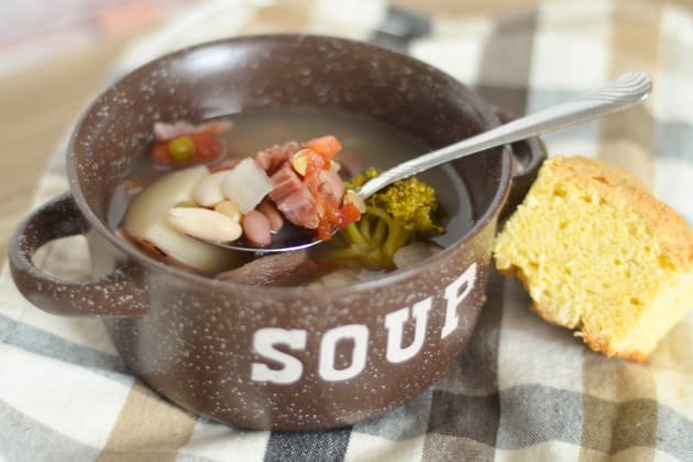 Slow Cooker Ham and Bean Soup Image