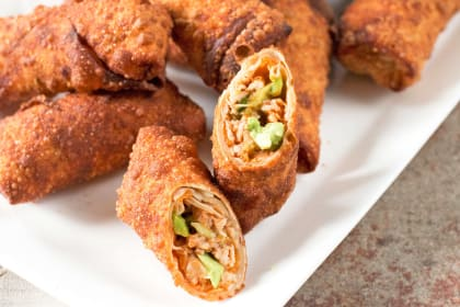 Avocado Eggrolls with BBQ Chicken