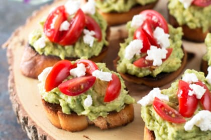 Avocado Goat Cheese Crostini