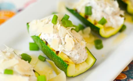 Gluten Free Chicken Salad Zucchini Boats Recipe