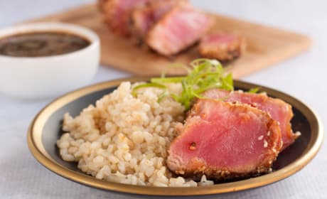 Oven Baked Tuna Steak Dinner