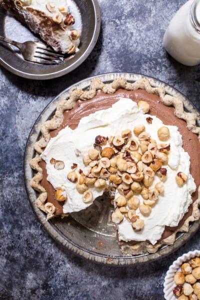Boozy Chocolate Hazelnut Cream Pie Pic