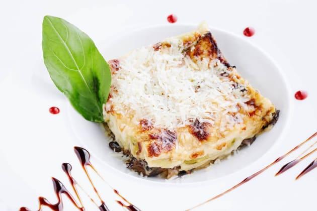 Mushroom lasagna photo