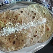 White chocolate, orange & coconut paratha