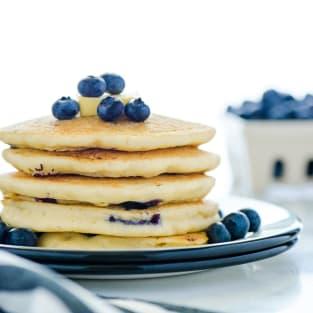 Gluten free blueberry pancakes photo