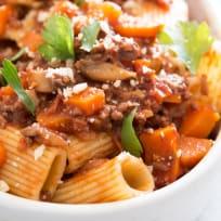 Beef Mushroom Rigatoni Recipe