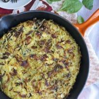 Mushroom & Feta Hashbrown Skillet Recipe