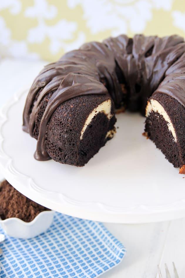 Ribboned Fudge Bundt Cake Recipe