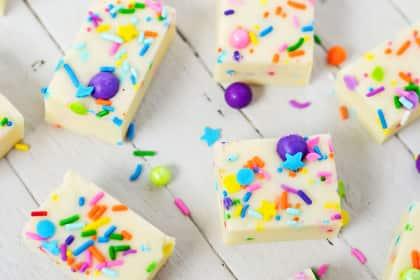 Gluten Free Cake Batter Fudge
