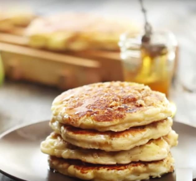 Stack of Apple Crisp Pancakes