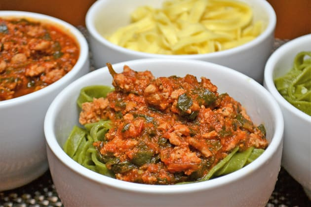 Easy Bolognese Sauce with Spinach Photo