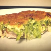 Chicken baked with zucchini