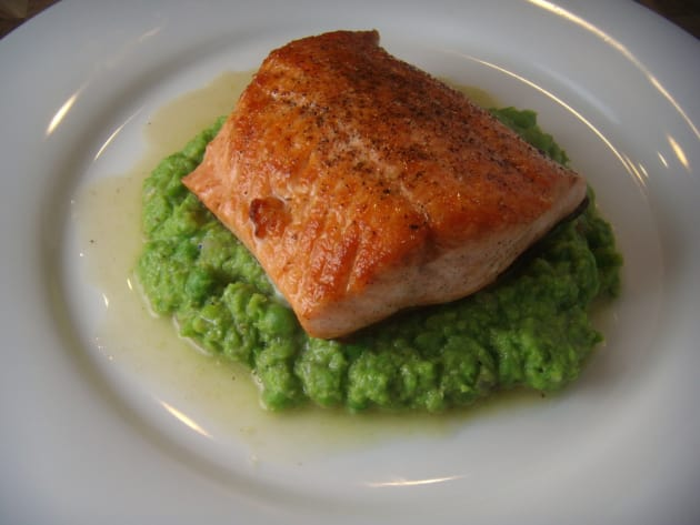 Salmon and Peas Photo