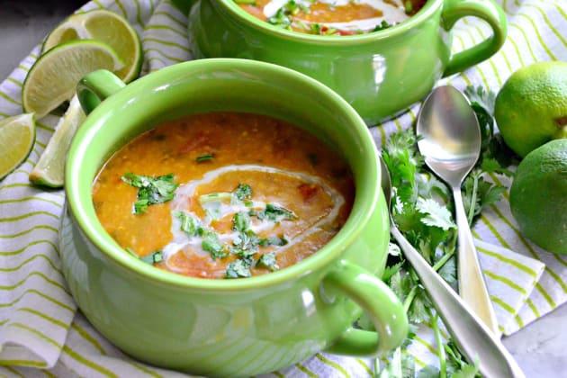 Instant Pot Coconut Curry Lentil Tomato Soup Photo