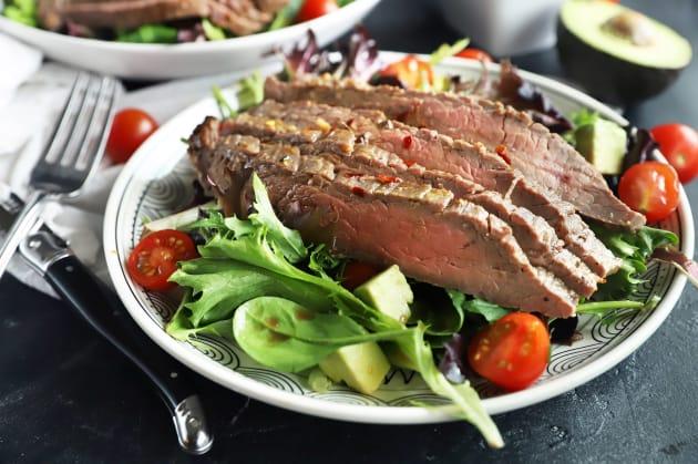 Miso Marinated Steak Salad with Avocado Photo