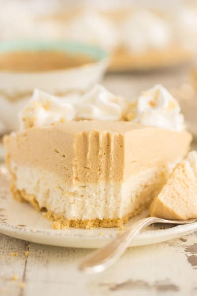 Double Layer No Bake Peanut Butter Cheesecake Pic