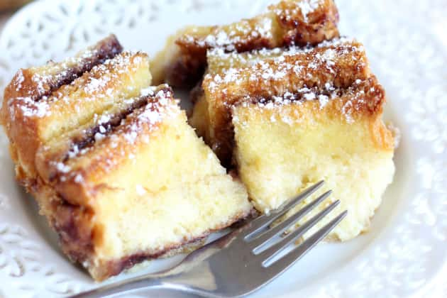 Peanut Butter and Jelly Bread Pudding Image