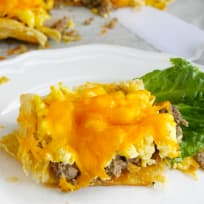 Sausage, Egg and Cheese Breakfast Tart Recipe
