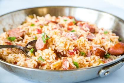 Easy Sausage and Rice Skillet Recipe