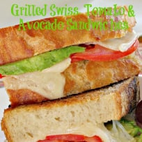 Grilled Swiss, Tomato and Avocado Sandwiches