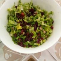 Cranberry salad with passion fruit vinaigrette